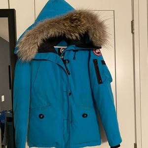 CANADA GOOSE Blue with Coyote Trim and Duck Fill